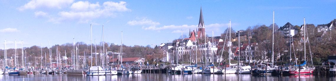 Blick auf das Ostufer Flensburg